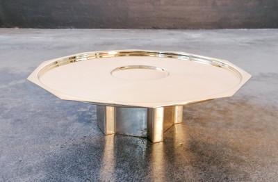 Alzata centrotavola in argento 925 design Carlo SCARPA per Cleto MUNARI. Italia, 1977