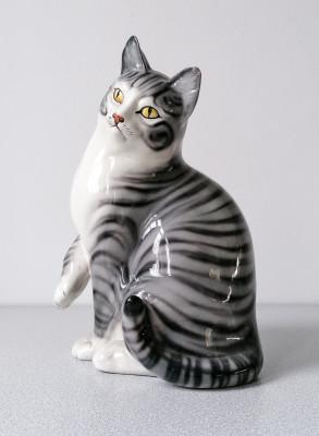Scultura in ceramica Gatto Manifattura RONZAN. Italia, Anni 60/70