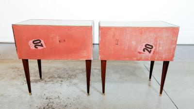 Coppia di comodini di design italiano, tipo Vittorio DASSI. Italia, Anni 50