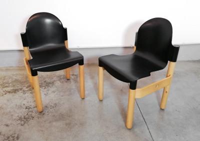 Coppia di sedie KARTELL Thonet Flex design Gerd LANGE. Italia, 1974