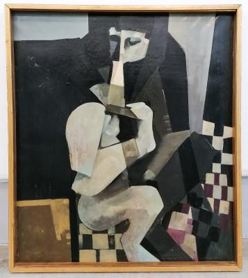 Dipinto olio su tela a firma Alfredo BILLETTO Figura di donna Italia, 1964