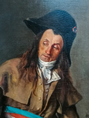Dipinto a olio firmato Eugen VON STIELER De soldaat van Napoléon. Olanda, 1876