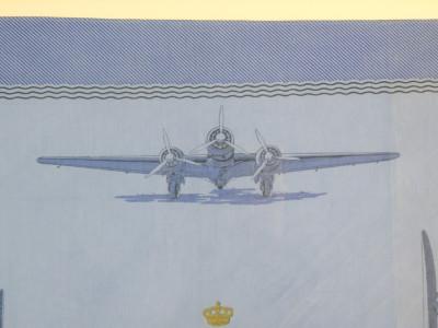 """Fazzoletto in cotone stampato, realizzato dalla Regia Aeronautica """"Trasvolatori"""" di Italo Balbo. Italia, Anni 20/30"""