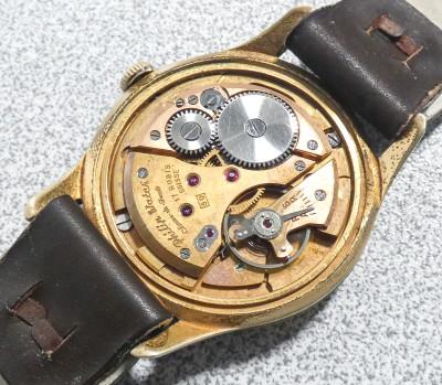 Orologio da polso con movimento a carica manuale firmato PHILIP WATCH ETA 1129, quadrante e cassa INVICTA. Svizzera, Anni 50