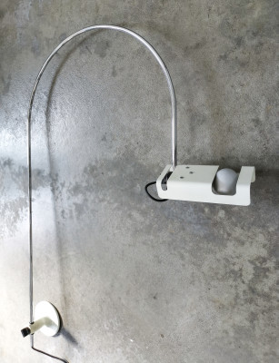 LAMPADA SPIDER DESIGN JOE COLOMBO PER OLUCE APPLIQUE VINTAGE ITALIA EPOCA