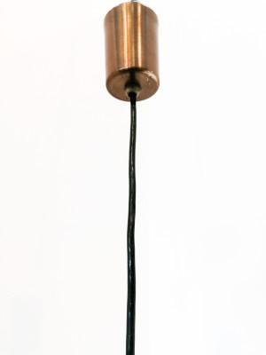 Lampadario a goccia design STILUX In vetro, legno e metallo. Italia, Anni 60