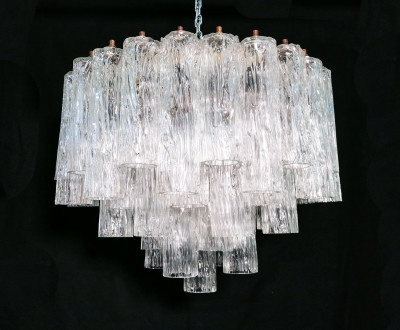 ??  LAMPADARIO SERIE CALZE DESIGN VENINI VETRO SOFFIATO MURANO HANGING LAMP 1960
