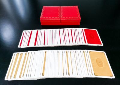 Set di due mazzi di carte da gioco Les Must de CARTIER in cofanetto porta carte originale. Francia, Anni 72-76