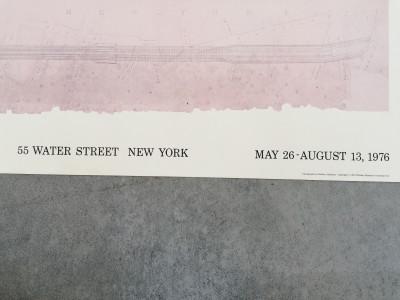 Manifesto della mostra Building the Brooklyn Bridge: the original drawings. Whitney Museum of American Art. New York, 1976