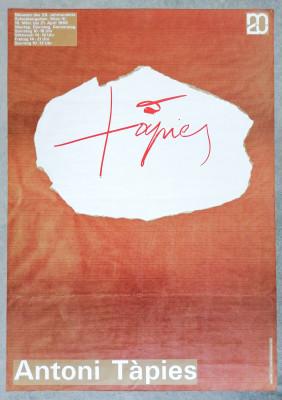 Manifesto della mostra di Antoni TÀPIES, museo Schweizergarten Vienna, 1968