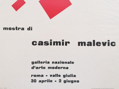 Manifesto della mostra di Casimir MALEVIC, Galleria Nazionale d