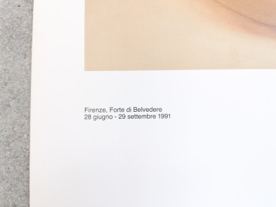 Manifesto della mostra di Fernando BOTERO tenutasi a Firenze, Forte di Belvedere nel 1991 Italia, 1991