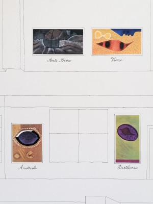 Manifesto della mostra di Jean PIAUBERT, Galleria Iolas Galatea Roma, Anni 60