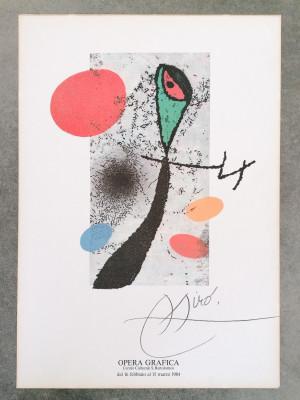 Manifesto della mostra di Joan MIRÒ, Centro Culturale San Bartolomeo Bergamo, 1984