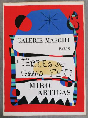 Manifesto della mostra di Joan MIRÒ, Galerie MAEGHT Terres de Grand Feu Paris, 1956