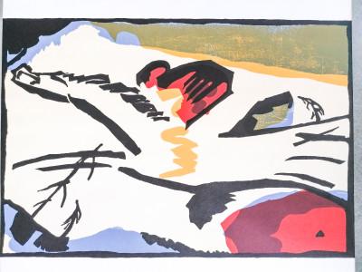 Manifesto della mostra tenutasi alla Galerie MAEGHT Der Blaue Reiter nel 1962, comprendente diversi autori fra cui Rousseau, Braque, Pablo Picasso, Franz Marc, Wassily Kandinsky