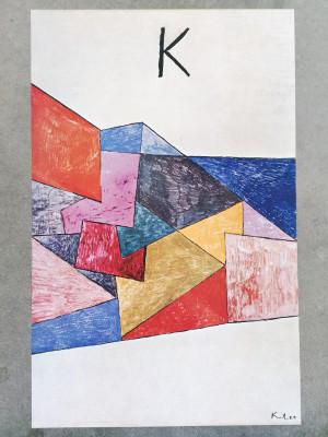 Manifesto della mostra di Paul KLEE, Galleria Nazionale d