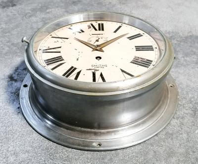 Orologio navale da parete, carica manuale a otto giorni SMITHS Empire. Inghilterra, Anni 30