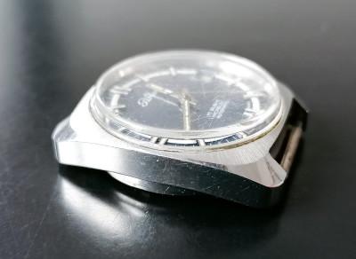 Orologio da polso automatico in acciaio PERSEO FS 17 Rubis Incabloc Automatic Codice 610-20. Svizzera, Anni 70