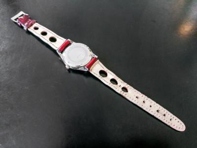 Orologio da polso a carica manuale PRYNGEPS 17 Rubis Incabloc Movimento FHF 76. Cinturino in pelle. Svizzera, Anni 60