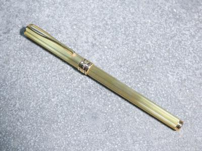 Penna stilografica AURORA Argento 925 laminato in oro. Pennino oro 14 Kt. Con astuccio originale. Italia