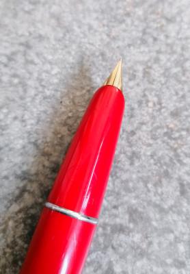 Penna stilografica AURORA Duo Cart, corpo rosso. Torino Italia, Anni 50