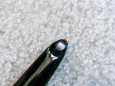 Penna stilografica PARKER 51 cappuccio laminato in oro 12cr in custodia originale con attestato d