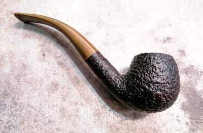 Pipa fatta a mano DUNHILL Shell 4113 Bent apple Rodata. Inghilterra