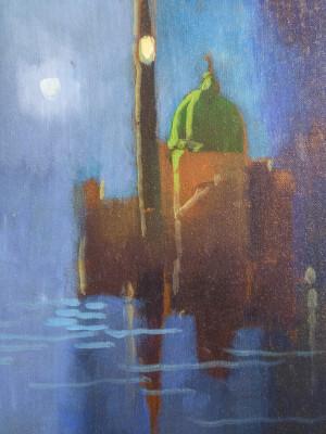 Dipinto in olio su tela firmato Eliano FANTUZZI, (1909 – 1987) Figura. Italia, Novecento