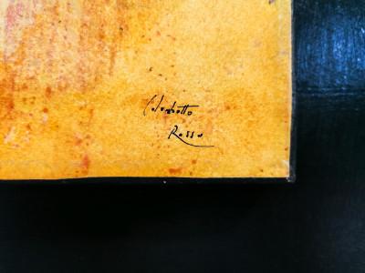 Quadro firmato Enrico COLOMBOTTO ROSSO (1925-2013) Volto. Italia, Anni 60/70
