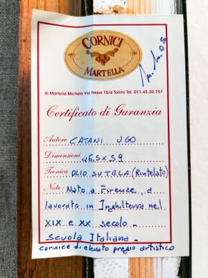Quadro a olio firmato Ugo CATANI Ritratto d