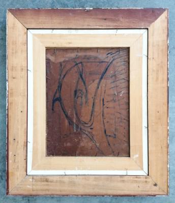 Dipinto materico a olio firmato Giovanni BOFFA Marina Italia, Novecento