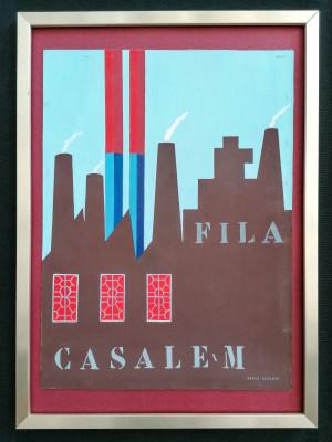 Bozzetto pubblicitario a firma Max Ninon, alias di Vittorio Accornero DE TESTA FILA - Casale M. Italia, Novecento