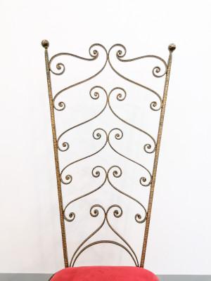 Attaccapanni di design, Pier Luigi COLLI, in metallo dorato. Italia, Anni 50