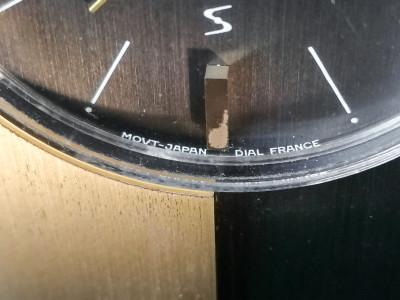 Orologio da tavolo al quarzo con sveglia, movimento SEIKO, design francese. Giappone/Francia, Anni 70/80