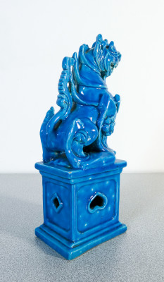 Leone Guardiano, ShiShi, Cane Foo in ceramica smaltata. Cina, Novecento