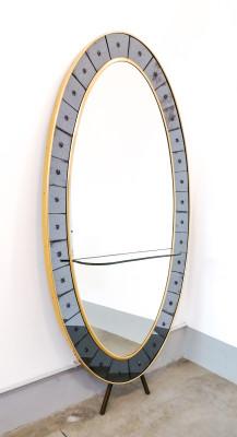 Specchiera console design CRISTAL ART. Italia, Anni 50