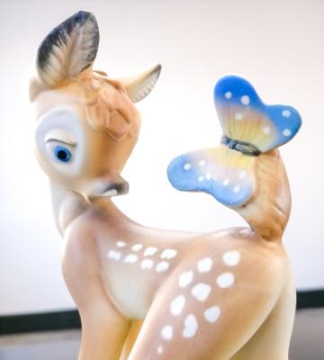 Statuina in ceramica LENCI Bambi. Scultura di Domenico COGNO. Italia, Anni 40/50