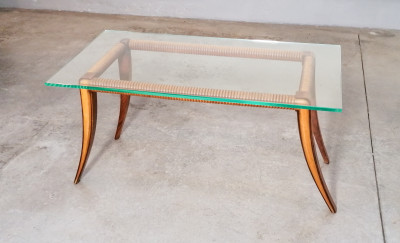 ?? TAVOLINO DESIGN OSVALDO BORSANI EPOCA 1940 DA FUMO SALOTTO COFFEE TABLE BASSE