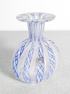 Vasetto in vetro soffiato di Murano BALLARIN Giuliano. Italia, Novecento