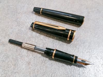 Penna stilografica WATERMAN Expert - black lacquer. Francia, Anni 90