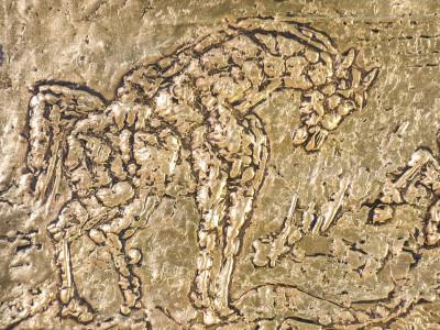 Bassorilievo a firma Aligi SASSU, Cavalli del mare, numerato 71/499. Con autentica. Italia, 1980
