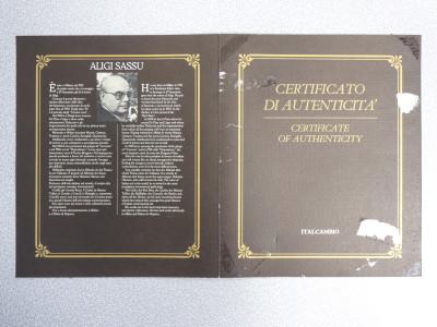 Bassorilievo a firma Aligi SASSU, Chirone il Centauro, su Argento 925, numerato 81/1800. Con autentica. Italia, 1982