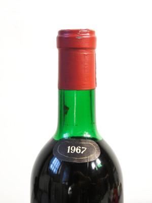 Bottiglia di vino Brunello di Montalcino del 1967, cantina BIONDI SANTI - Il Greppo. Montalcino (Siena)