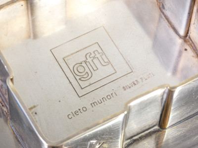 Ciotola, svuotatasche in silver plate, design Cleto MUNARI per GFT. Italia, Anni 70