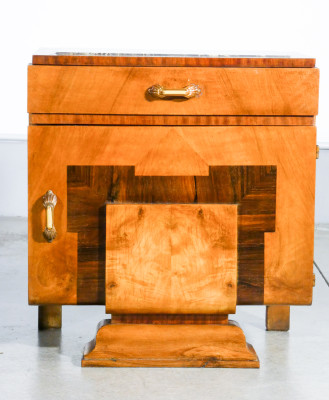 ?? COPPIA COMODINO ART DECO LEGNO RADICA DESIGN ITALIA VINTAGE EPOCA 1920S LETTO