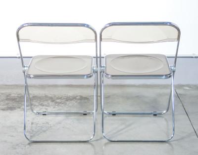 Coppia di sedie PLIA design Giancarlo PIRETTI per CASTELLI. Italia, 1967