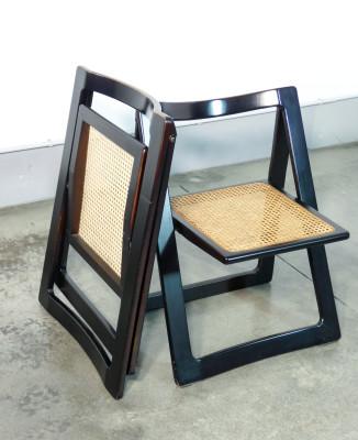 Coppia di sedie pieghevoli TRIESTE, design Pierangela D