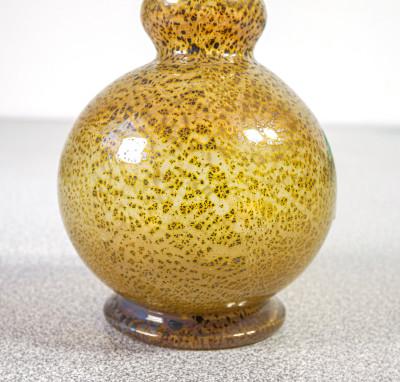 Coppia di vasetti di design in vetro soffiato di Murano. Italia, Anni 80