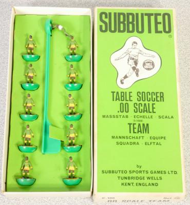 Confezione SUBBUTEO Team - Squadra Ref. 171. Inghilterra, Anni 70